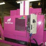1995 MATSUURA TWIN SPINDLE CNC VERTICAL MACHINING CENTER / WITH PALLET SHUTTLE